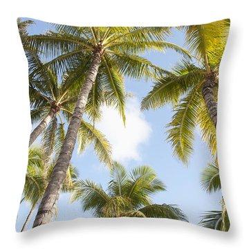 Beautiful Palms Throw Pillow by Brandon Tabiolo