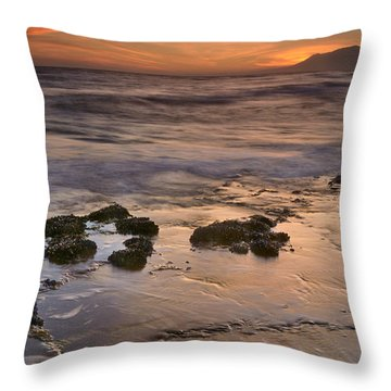 Beautiful Red Sunset Throw Pillow by Guido Montanes Castillo