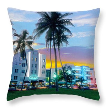 Beautiful South Beach Throw Pillow by Jon Neidert