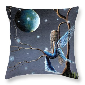 Fairy Art Print - Original Artwork Throw Pillow by Shawna Erback