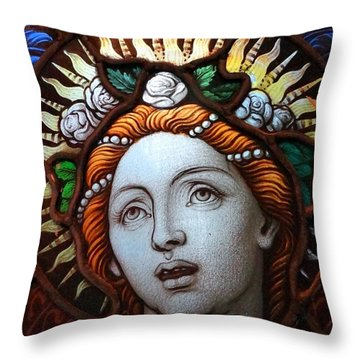 Beauty In Glass Throw Pillow by Ed Weidman