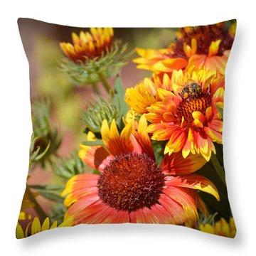 Beauty In The Garden Throw Pillow by Lynn Bauer