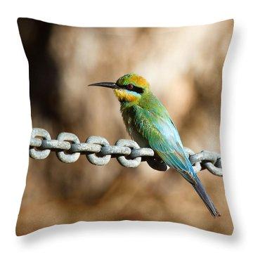 Beauty On Chains Throw Pillow by Mr Bennett Kent