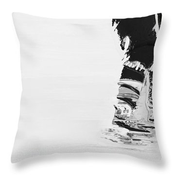 Becomes The Ice Throw Pillow by Karol Livote
