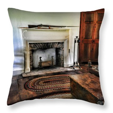 Bedroom - Colonial Style Throw Pillow by Paul Ward