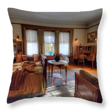 Bedroom Glensheen Mansion Duluth Throw Pillow by Amanda Stadther