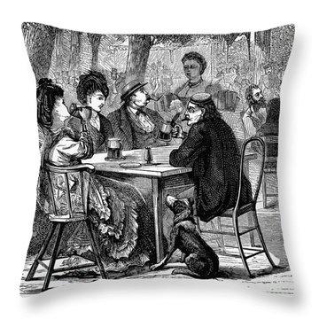 Beer Garden Throw Pillow by Granger