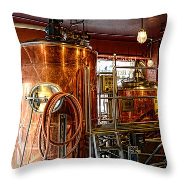 Beer - The Brew Kettle Throw Pillow by Paul Ward