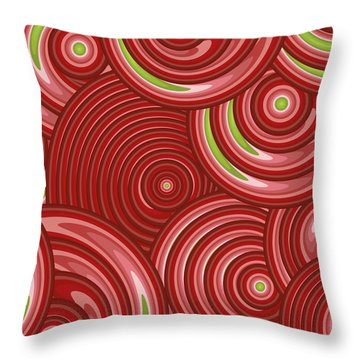 Beetroot Pink Abstract Throw Pillow by Frank Tschakert