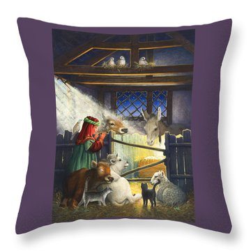 Behold The Child Throw Pillow by Lynn Bywaters