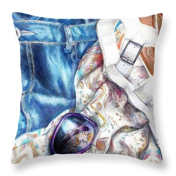 Being A Girl Throw Pillow by Shana Rowe Jackson