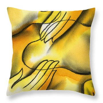 Belief Throw Pillow by Leon Zernitsky
