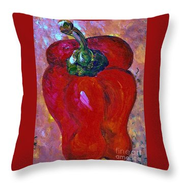 Bell Pepper - Take Center Stage Throw Pillow by Eloise Schneider