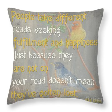 Bella Bird 1 Throw Pillow by Debbie DeWitt