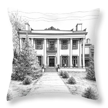 Belle Meade Plantation Throw Pillow by Janet King