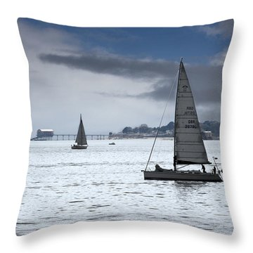 Bembridge Pier From Gosport Throw Pillow by Terri Waters