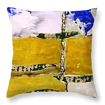 Ben And Jewel Panel 3 Throw Pillow by Sandra Gail Teichmann-Hillesheim