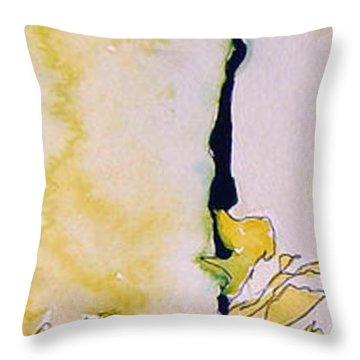 Ben And Jewel Panel I Throw Pillow by Sandra Gail Teichmann-Hillesheim