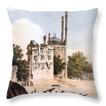 Benares On The Ganges Throw Pillow by William Hodges