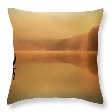Beside Still Waters Throw Pillow by Rob Blair
