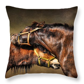 Best Friends Forever Throw Pillow by Karen Slagle