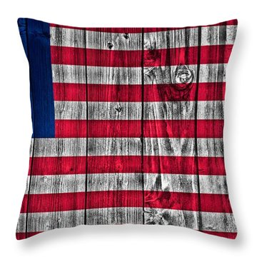 Betsy Ross American Flag Barn Throw Pillow by Dan Sproul