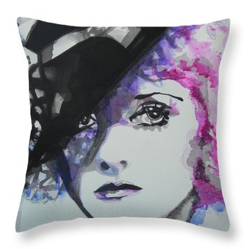 Bette Davis 02 Throw Pillow by Chrisann Ellis