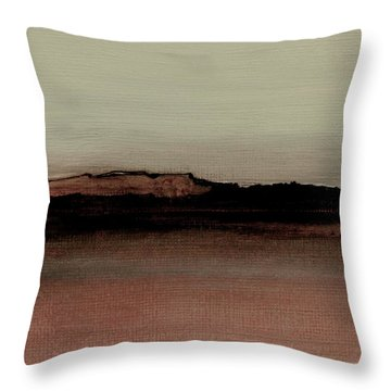 Between The Woods And Frozen Lake  Number 1133-10 Throw Pillow by Diane Strain