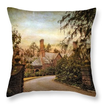 Beyond The Gates Throw Pillow by Jessica Jenney