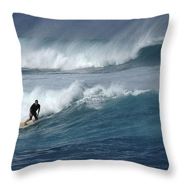 Beyond The Reef Throw Pillow by Bob Christopher
