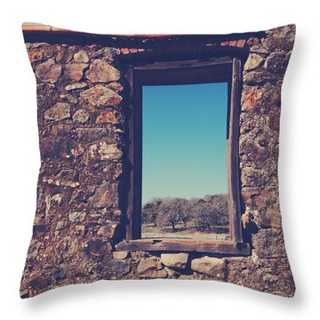 Beyond These Walls Throw Pillow by Laurie Search