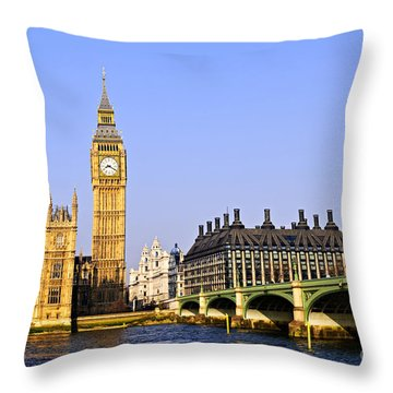 Big Ben And Westminster Bridge Throw Pillow by Elena Elisseeva