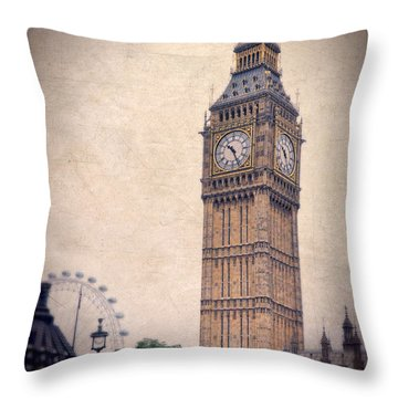 Big Ben In London Throw Pillow by Jill Battaglia