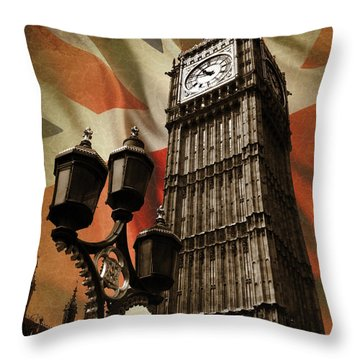Big Ben London Throw Pillow by Mark Rogan