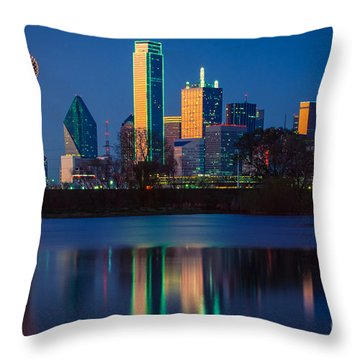 Big D Reflection Throw Pillow by Inge Johnsson