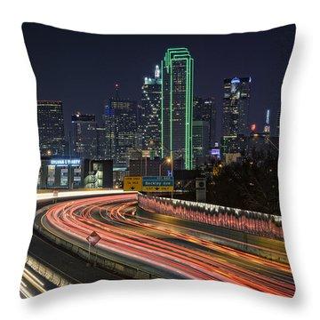 Big D Throw Pillow by Rick Berk