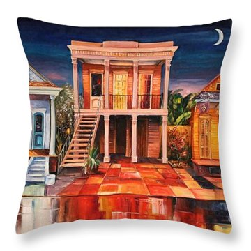 Big Easy Night Throw Pillow by Diane Millsap