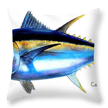 Big Eye Tuna Throw Pillow by Carey Chen