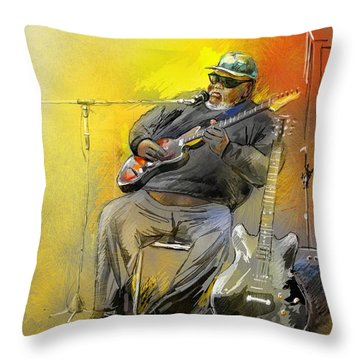 Big Jerry In Memphis Throw Pillow by Miki De Goodaboom