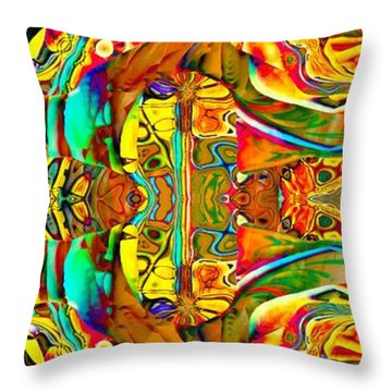 Big Rock Candy Mountain Throw Pillow by Amanda Moore
