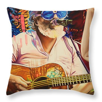 Bill Nershi At Horning's Hideout Throw Pillow by Joshua Morton