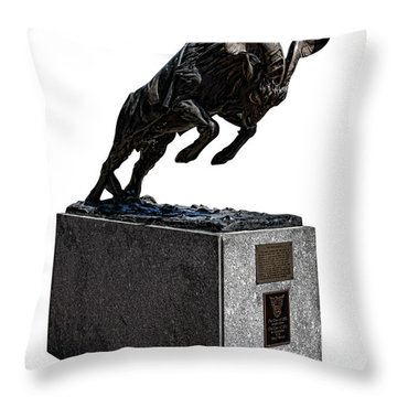 Bill The Goat Throw Pillow by Olivier Le Queinec