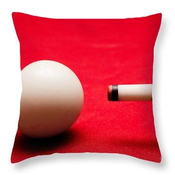 Billards Pool Game Throw Pillow by Michal Bednarek