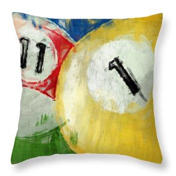 Billiards 11 1 Throw Pillow by David G Paul