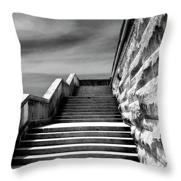 Biltmore Stairs Asheville Nc Throw Pillow by William Dey