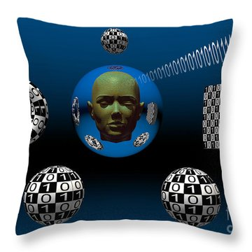 Binary Language, A Universal Means Throw Pillow by Mark Stevenson