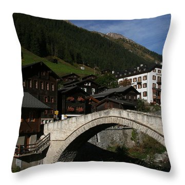 Throw Pillow featuring the photograph Binn by Travel Pics