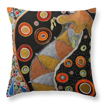 Biological Rhythms.. Throw Pillow by Jolanta Anna Karolska