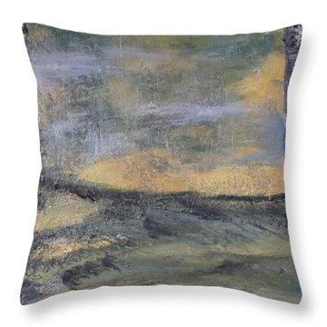 Birch Landscape Throw Pillow by Karen Lillard