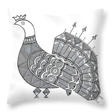 Bird Dove Throw Pillow by Neeti Goswami